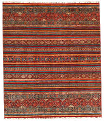 Shabargan Teppich 245X286 Echter Moderner Handgeknüpfter Dunkelgrau/Rost/Rot (Wolle, Afghanistan)