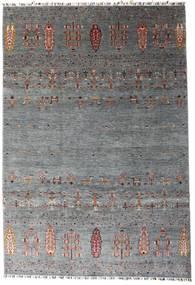Shabargan Teppich  207X303 Echter Moderner Handgeknüpfter Dunkelgrau/Blau (Wolle, Afghanistan)