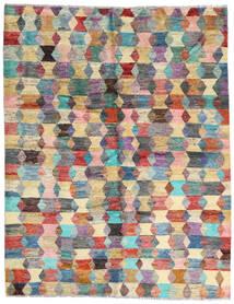 Moroccan Berber - Afghanistan Teppich  186X236 Echter Moderner Handgeknüpfter Dunkelbraun/Hellgrau (Wolle, Afghanistan)