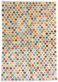Moroccan Berber - Afghanistan Teppich  159X230 Echter Moderner Handgeknüpfter Beige/Dunkel Beige (Wolle, Afghanistan)