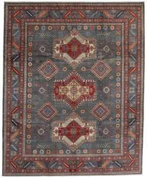 Kazak Teppich  243X297 Echter Orientalischer Handgeknüpfter Dunkelgrau/Dunkelrot (Wolle, Afghanistan)