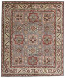 Kazak Teppich  246X294 Echter Orientalischer Handgeknüpfter Hellbraun/Hellgrau (Wolle, Afghanistan)