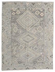 Kelim Modern Teppich  182X236 Echter Moderner Handgewebter Hellgrau (Wolle, Afghanistan)