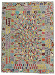 Kelim Afghan Old Style Teppich  171X227 Echter Orientalischer Handgewebter Hellgrau/Dunkelgrau (Wolle, Afghanistan)
