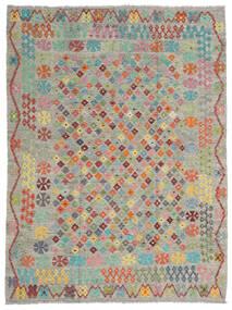 Kelim Afghan Old Style Teppich  184X245 Echter Orientalischer Handgewebter Hellgrau/Dunkelgrau (Wolle, Afghanistan)