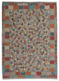 Kelim Afghan Old Style Teppich 173X236 Echter Orientalischer Handgewebter Dunkelgrau/Olivgrün (Wolle, Afghanistan)