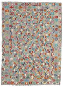 Kelim Afghan Old Style Teppich 179X240 Echter Orientalischer Handgewebter Hellgrau/Dunkelgrau (Wolle, Afghanistan)