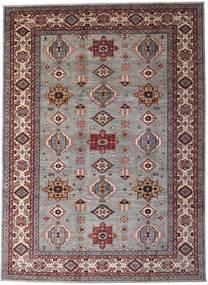 Modern Afghan Teppich  248X339 Echter Moderner Handgeknüpfter Hellgrau/Dunkelbraun (Wolle, Afghanistan)