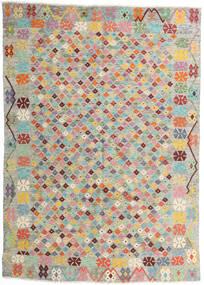 Kelim Afghan Old Style Teppich 165X232 Echter Orientalischer Handgewebter Hellgrau/Hellrosa (Wolle, Afghanistan)
