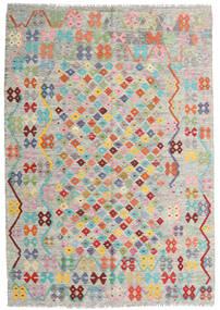 Kelim Afghan Old Style Teppich 170X244 Echter Orientalischer Handgewebter Hellgrau/Dunkel Beige (Wolle, Afghanistan)