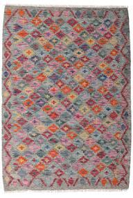 Kelim Afghan Old Style Teppich  100X142 Echter Orientalischer Handgewebter Dunkelgrau/Hellgrau (Wolle, Afghanistan)