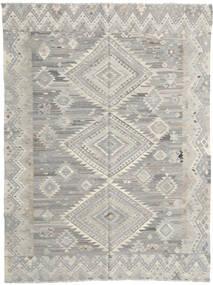 Kelim Modern Teppich  212X277 Echter Moderner Handgewebter Hellgrau/Dunkel Beige (Wolle, Afghanistan)