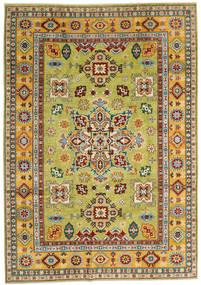 Kazak Teppich 205X289 Echter Orientalischer Handgeknüpfter Dunkelrot/Gelb (Wolle, Afghanistan)