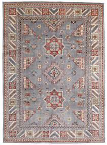 Kazak Teppich 250X346 Echter Orientalischer Handgeknüpfter Hellgrau/Dunkelgrau Großer (Wolle, Afghanistan)