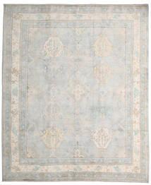 Kazak Teppich 245X296 Echter Orientalischer Handgeknüpfter Hellgrau/Weiß/Creme (Wolle, Afghanistan)