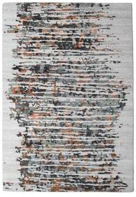 Damask Collection Teppich 159X230 Echter Moderner Handgeknüpfter Hellgrau/Dunkelbraun ( Indien)