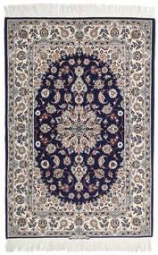 Isfahan Seidenkette Signatur: Intashari Teppich 110X162 Echter Orientalischer Handgeknüpfter Hellgrau/Dunkellila (Wolle/Seide, Persien/Iran)