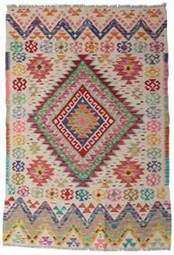 Kelim Afghan Old Style Teppich  102X151 Echter Orientalischer Handgewebter Hellgrau/Braun (Wolle, Afghanistan)