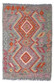 Kelim Afghan Old Style Teppich  78X114 Echter Orientalischer Handgewebter Hellgrau/Braun (Wolle, Afghanistan)