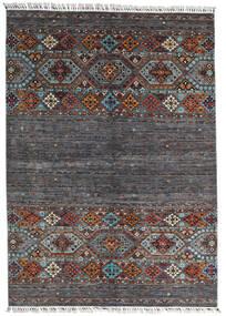Shabargan Teppich 177X247 Echter Moderner Handgeknüpfter Schwartz/Dunkelbraun (Wolle, Afghanistan)