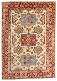 Kazak Teppich 201X288 Echter Orientalischer Handgeknüpfter Rost/Rot/Gelb (Wolle, Afghanistan)