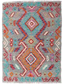 Kelim Afghan Old Style Teppich  88X121 Echter Orientalischer Handgewebter Hellgrau/Braun (Wolle, Afghanistan)