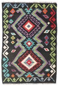 Kelim Afghan Old Style Teppich  75X113 Echter Orientalischer Handgewebter Dunkelgrau/Schwartz (Wolle, Afghanistan)