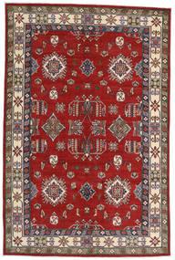 Kazak Teppich 182X275 Echter Orientalischer Handgeknüpfter Rost/Rot/Dunkelrot (Wolle, Afghanistan)
