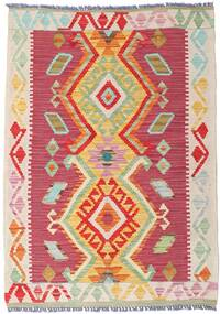 Kelim Afghan Old Style Teppich  81X113 Echter Orientalischer Handgewebter Rost/Rot/Dunkel Beige (Wolle, Afghanistan)