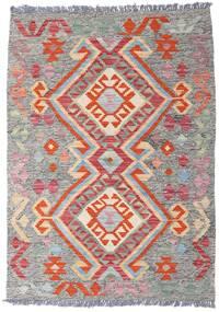 Kelim Afghan Old Style Teppich  80X112 Echter Orientalischer Handgewebter Hellgrau/Weiß/Creme (Wolle, Afghanistan)