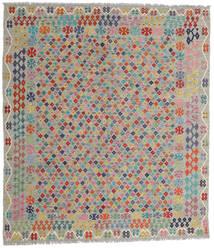 Kelim Afghan Old Style Teppich 260X295 Echter Orientalischer Handgewebter Dunkelgrau/Hellgrau Großer (Wolle, Afghanistan)