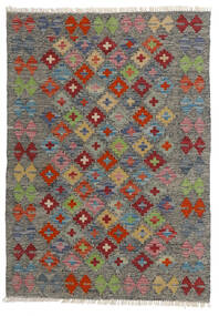 Kelim Afghan Old Style Teppich  80X113 Echter Orientalischer Handgewebter Dunkelgrau/Hellgrau (Wolle, Afghanistan)