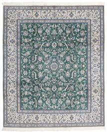 Nain 9La Teppich  247X298 Echter Orientalischer Handgeknüpfter Hellgrau/Blau (Wolle/Seide, Persien/Iran)
