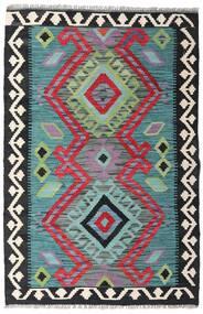 Kelim Afghan Old Style Teppich  81X123 Echter Orientalischer Handgewebter Schwartz/Hellblau (Wolle, Afghanistan)