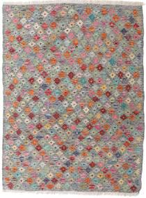 Kelim Afghan Old Style Teppich  87X117 Echter Orientalischer Handgewebter Hellgrau/Dunkelgrau (Wolle, Afghanistan)