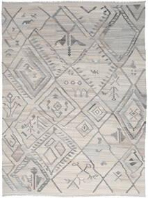 Kelim Ariana Teppich 254X345 Echter Moderner Handgewebter Hellgrau Großer (Wolle, Afghanistan)