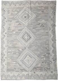 Kelim Ariana Teppich  256X357 Echter Moderner Handgewebter Hellgrau Großer (Wolle, Afghanistan)