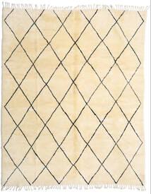 Berber Moroccan - Beni Ourain Teppich  280X345 Echter Moderner Handgeknüpfter Beige/Dunkel Beige Großer (Wolle, Marokko)