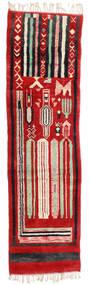 Berber Moroccan - Mid Atlas Teppich  82X304 Echter Moderner Handgeknüpfter Läufer Rost/Rot/Schwartz (Wolle, Marokko)
