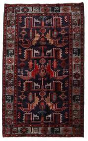 Hamadan Teppich  131X213 Echter Orientalischer Handgeknüpfter Dunkelrot (Wolle, Persien/Iran)