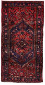 Hamadan Teppich 105X206 Echter Orientalischer Handgeknüpfter Dunkelrot/Dunkellila (Wolle, Persien/Iran)