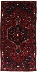 Hamadan Teppich  102X205 Echter Orientalischer Handgeknüpfter Dunkelrot (Wolle, Persien/Iran)