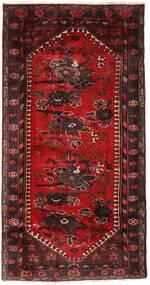Hamadan Teppich  102X193 Echter Orientalischer Handgeknüpfter Dunkelrot/Dunkelbraun (Wolle, Persien/Iran)