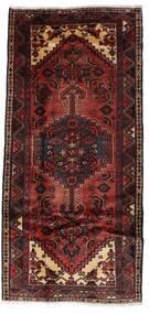 Hamadan Teppich 99X211 Echter Orientalischer Handgeknüpfter Dunkelrot (Wolle, Persien/Iran)