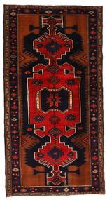 Hamadan Teppich  102X198 Echter Orientalischer Handgeknüpfter Dunkelbraun/Rost/Rot (Wolle, Persien/Iran)