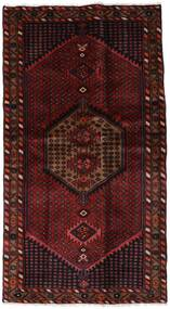 Hamadan Teppich  104X191 Echter Orientalischer Handgeknüpfter Dunkelrot (Wolle, Persien/Iran)