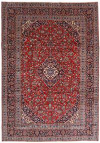 Keshan Teppich 251X360 Echter Orientalischer Handgeknüpfter Dunkelrot/Dunkellila Großer (Wolle, Persien/Iran)