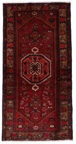 Hamadan Teppich  99X196 Echter Orientalischer Handgeknüpfter Dunkelrot/Dunkelbraun (Wolle, Persien/Iran)