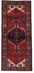 Hamadan Teppich  95X219 Echter Orientalischer Handgeknüpfter Läufer Dunkelrot (Wolle, Persien/Iran)