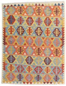 Kelim Afghan Old Style Teppich 157X202 Echter Orientalischer Handgewebter Dunkel Beige/Hellblau (Wolle, Afghanistan)